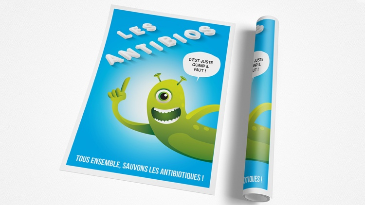 Graphic Design - Campagne Antibios