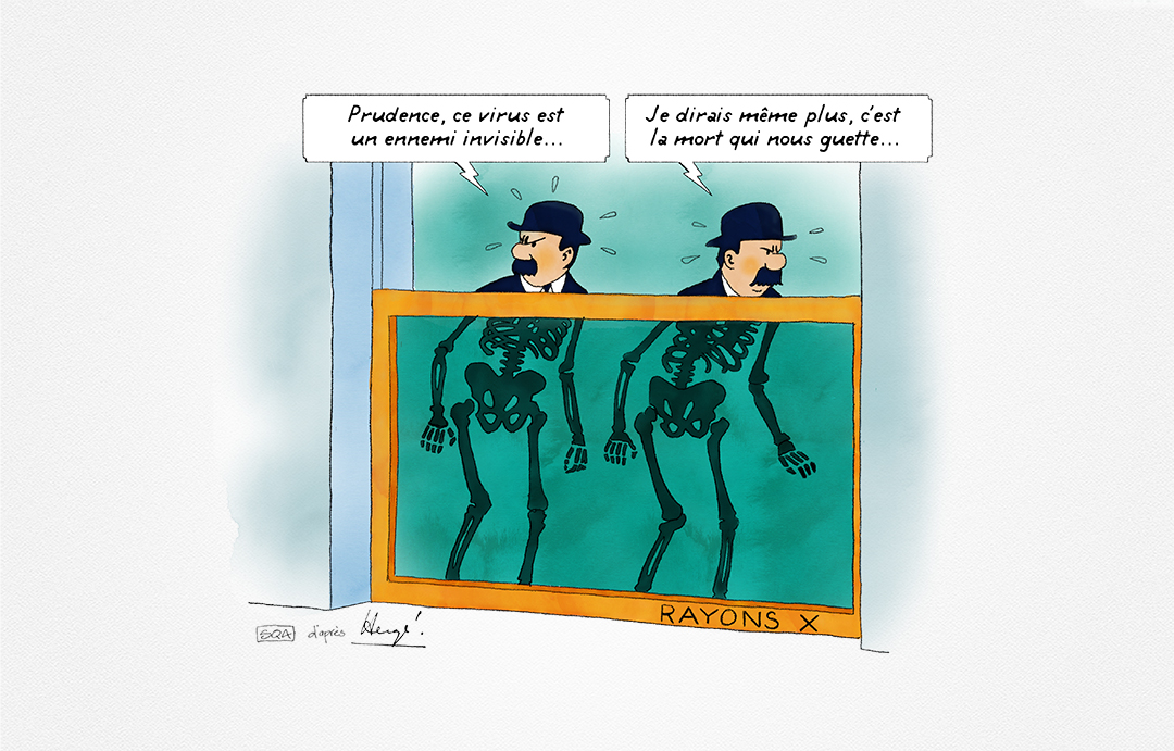 Parodie Tintin Covid 19