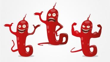 Mascotte Terry la Bactérie